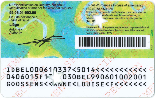Belgique Carte Identite Bebe.Documentation Kids Id Ibz Institutions Et Population